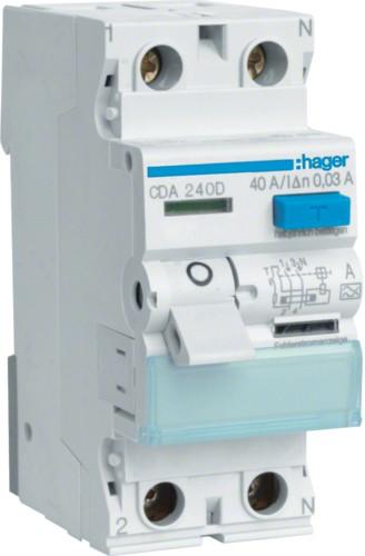Устройство защитного отключения (УЗО) HAGER типа А