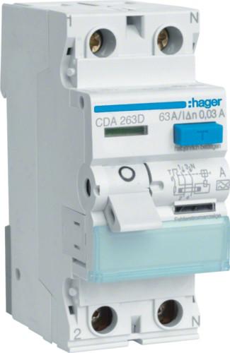 Устройство защитного отключения (УЗО) HAGER серии CDA