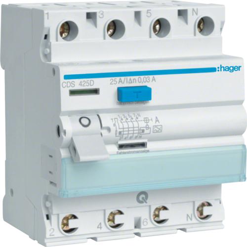 Устройство защитного отключения (УЗО) HAGER серии CDS QuickConnect