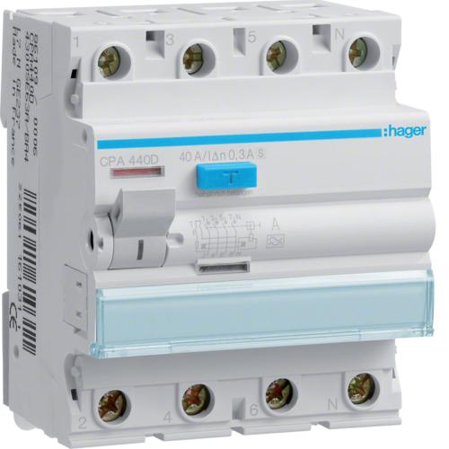 Устройство защитного отключения (УЗО) HAGER серии CP/CPA